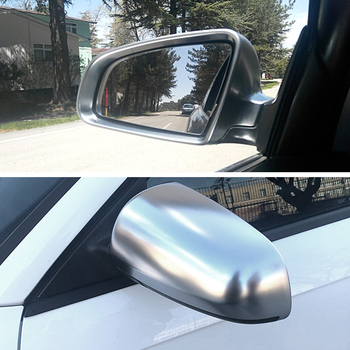 Matt Chrome Mirror Cover Rearview Side Mirror Cap S Line For Audi A4 B6 B7 A6 (2003-2007) S4