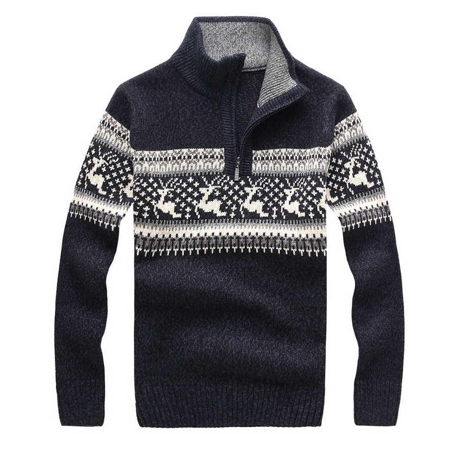 Loldeal 5 Colors 2018 Winter New Men's Casual Sweater Turtleneck Pullover Knitted Clothing Men's Sweater