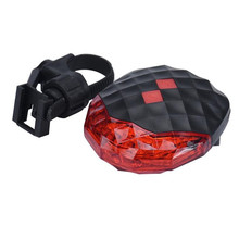 Bright 5 LED 180degree wide visibility Cycling Bicycle Rear Flashing Light Warning Tail Lamp Laser Launchers Bike Accessories