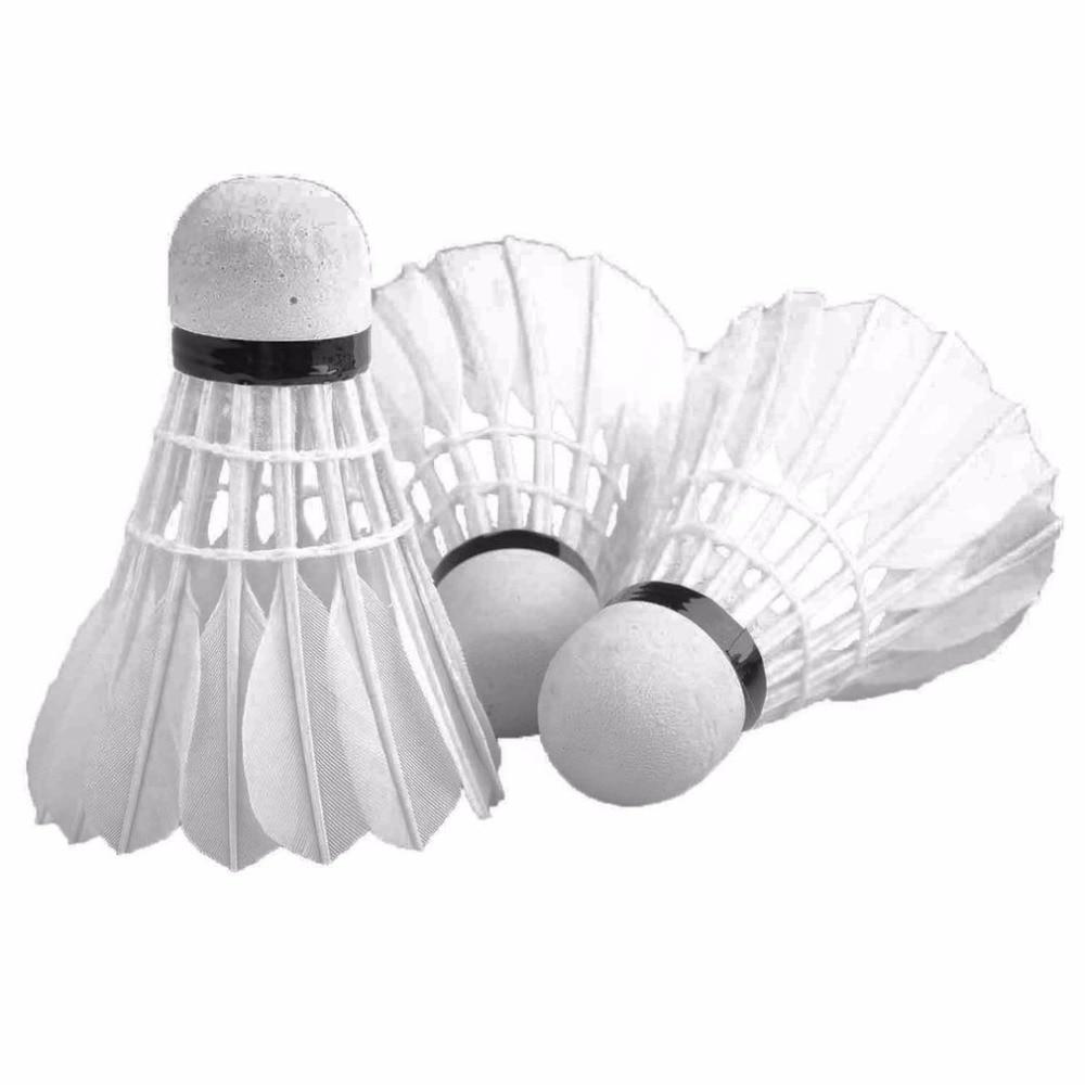 REIZ 12pcs/set Professional Training Badminton Shuttlecocks Durable Top Grade Duck Feather Competition Sports Badminton Ball