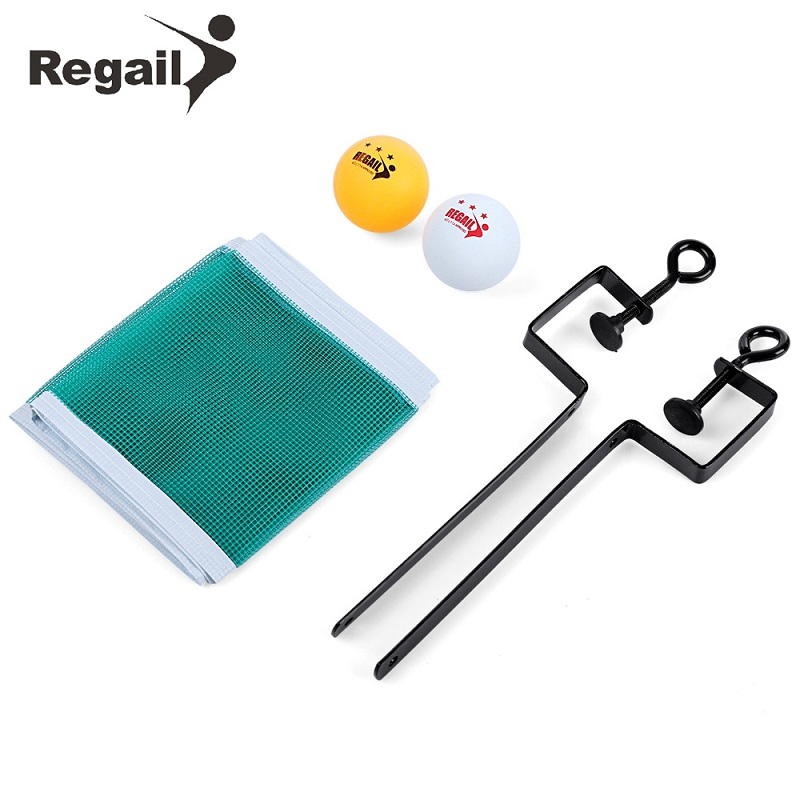 REGAIL Training Competition Ping Pong Ball Net Fix Equipment Practical Table  Tennis Set Lightweight And Portable