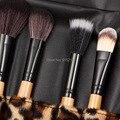 2set Professional Makeup Brush Set tools Make-up Toiletry Kit Wool Brand Make Up Brush Set Case free shipping