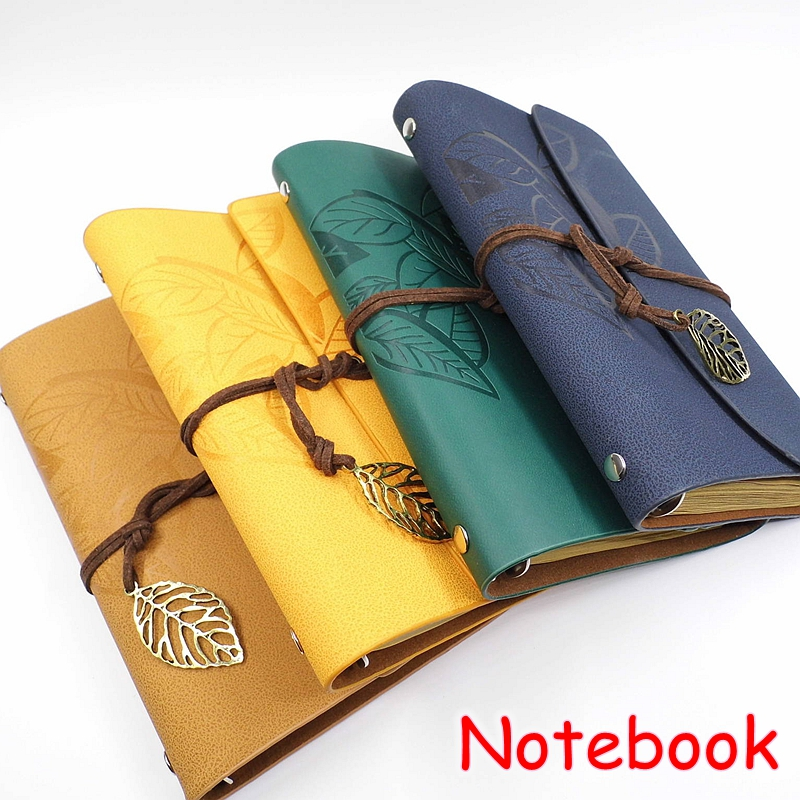 1 PCS Cute Korean School Stationery PU Leather Journal Vintage Diary Notebook 80 Pages Spiral Design Novelty Gift Y527 magic vintage fluorescent hello goodnight hardcover notebook diary journal gift school stationery