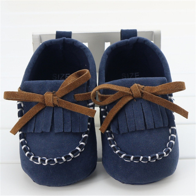d654dcf7401 2016 Summer Style Navy Blue Tassel With Coffee Bow Baby Boy Shoes Soft Sole  Lining Baby Girl Shoes Scarpe Bambino Loafer 0-18M
