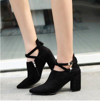 2017 Autumn New Fashion All match Rough Heels Heels Sexy Occupation font b Shoes b font