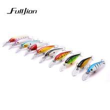 Fulljion 10pcs/lot Fishing Lures for Most Fishing Rods Wobbler Crankbait Minnow Fishhooks Plastic Baits Pesca Isca Artificial