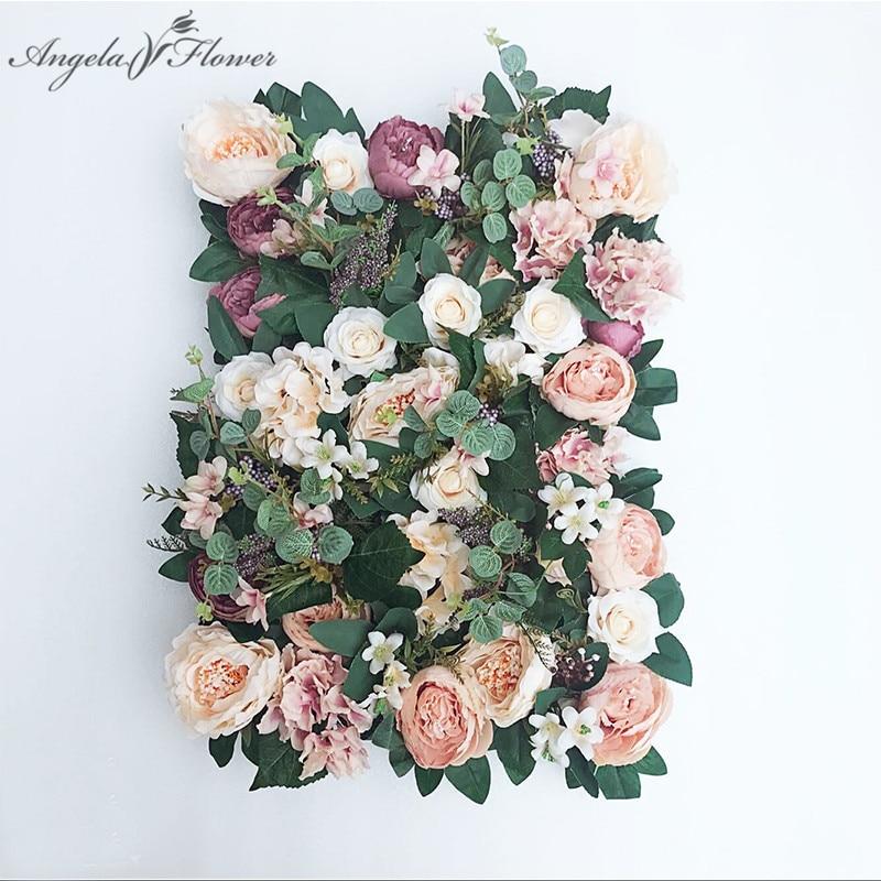 1PC Silk Hydrangea Rose Flower Wall Panel Wedding Party Backdrop Decor GIFT