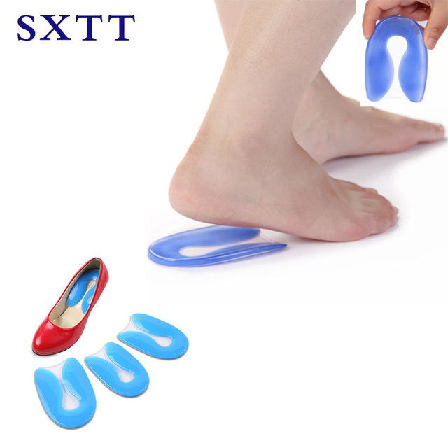 e95aa8a3f Dor no pé 100% U-Forma de Silicone Gel Protetor de Esporão de Calcanhar