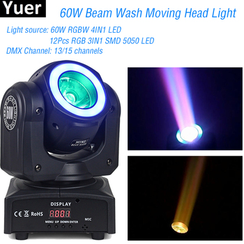 2019 NEW RGBW 4IN1 LED Beam Wash Moving Head Light 16/30 Channels Onion DMX Moving Head Disco Light For Christmas DJ Stage Light