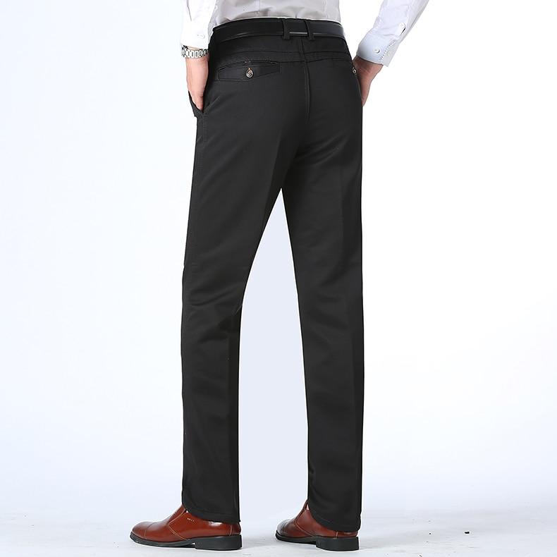 HTB1c7OpDCtYBeNjSspkq6zU8VXaS Autumn Winter Men Warm Fleece Classic Black Cotton Pants Mens Business Loose Long Trousers Quality Casual Work Pants Overalls