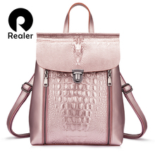 d4270d36b896 Buy crocodile leather backpack and get free shipping on AliExpress.com