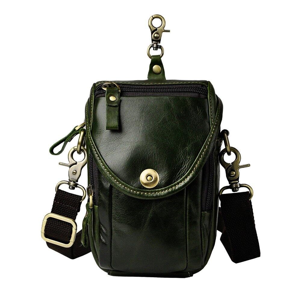 Mode äkta läder multifunktion sommar påse krok midja pack - Bälten väskor - Foto 2