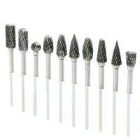 10pcs Tungsten Mini Drill Bit Set Carbide Burs Dental Burs Set Tungstenio Tungsten Dental Sharpening 6mm