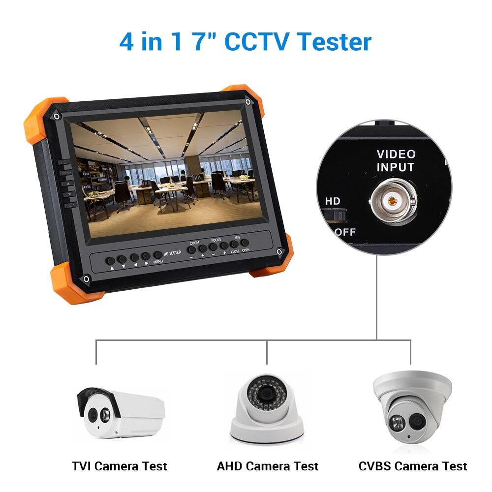 Seesii 4 en 1 CCTV testeur moniteur 7 pouces 4 K 1080 P IPC caméra CVBS analogique écran tactile avec POE HDMI ONVIF WIFI caméra IP testeur