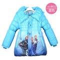 Девушки зимняя куртка дети снежная королева вниз парки зимние-мягкие одежда для 3 4 5 6 7 8 год толстый теплый с девушки верхняя одежда пальто