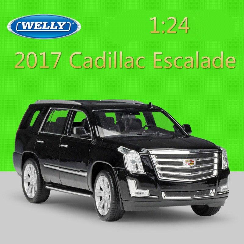 WELLY 1:24 Diecast Simulatore Modello di Auto 2017 Cadillac Escalade SUV Giocattolo In Metallo Auto Giocattoli Per Il Regalo Dei Bambini Decorazione di Raccolta