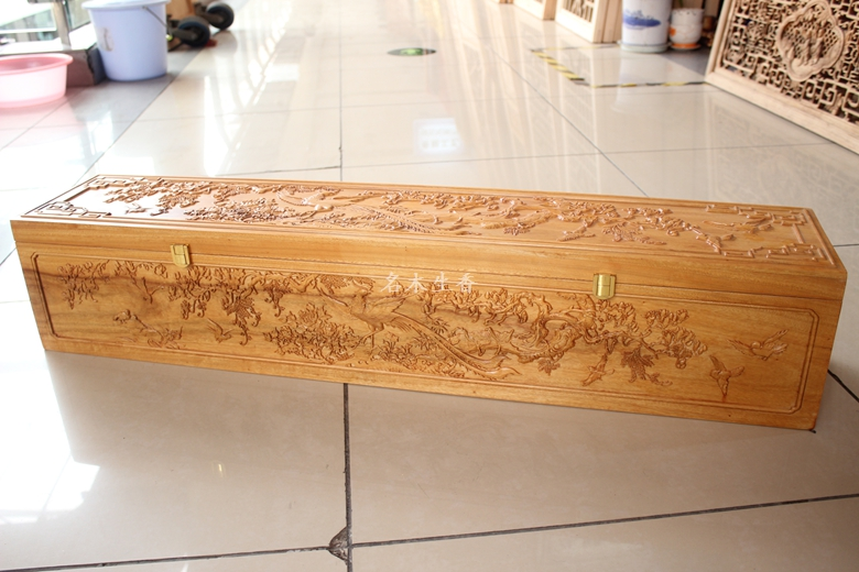 Dongyang wood carving camphorwood box wood box and box jewelry box packing box 20*100 collection of painting and calligraphy цена