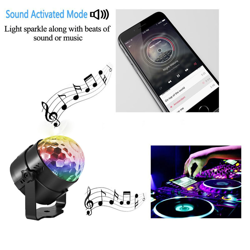 Newest EU Plug RGB Crystal Magic Ball Stage Lighting For Party Disco DJ Bar Bulb Lighting @8