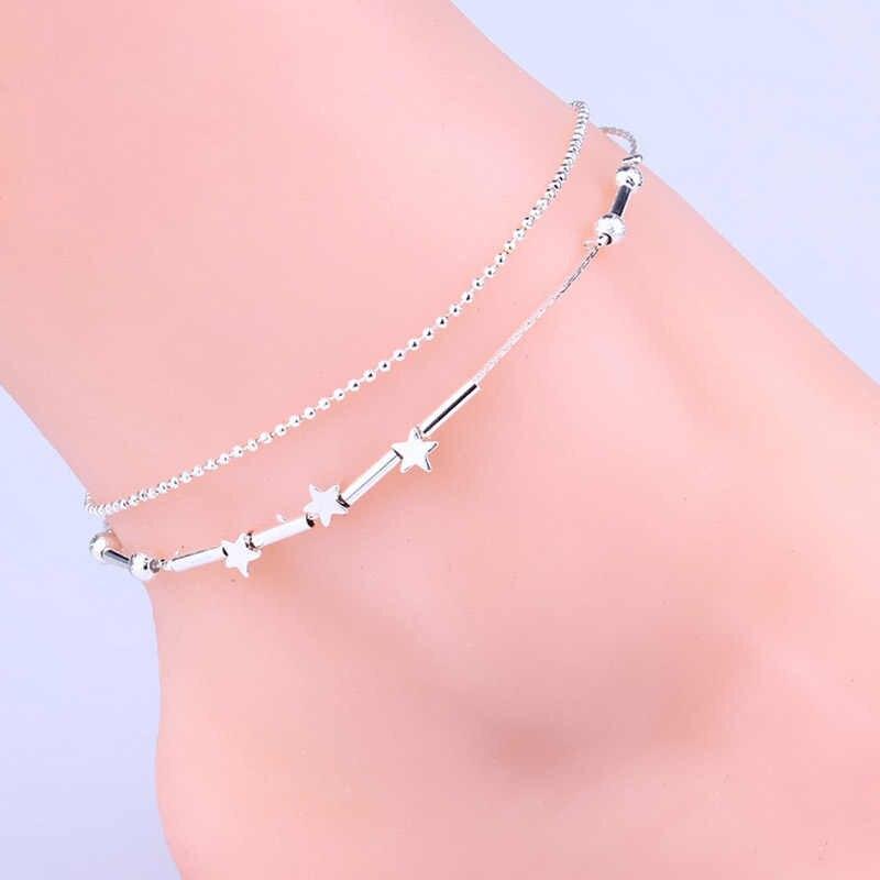 Продажа 1 шт. звезды бусины Геометрическая, треугольная сердце цепи браслеты для Для женщин модная одежда для девочек летние подарки