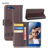 KLAIDO Genuine Cow Leather Case For Huawei Honor 9 Cover Vintage Wallet Cover For Honor 9