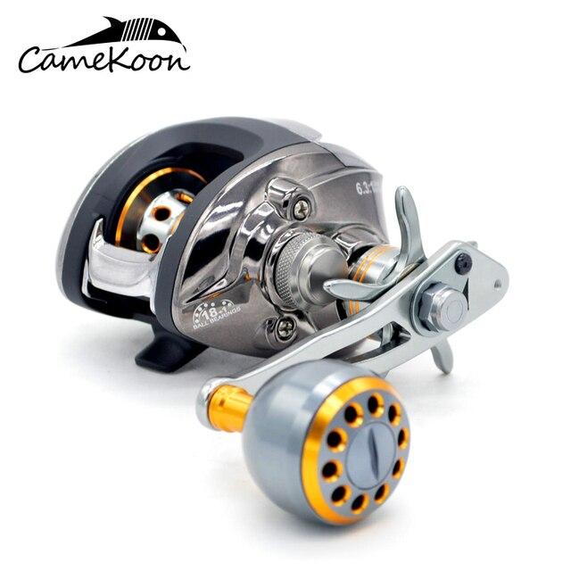 CAMEKOON Baitcasting Reel High Speed 18+1 Ball Bearings 6.3:1 Gear Ratio Baitcast Fishing Reel With Crank Handle