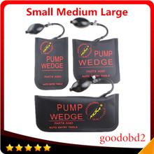 Czarny KLOM PUMP WEDGE Airbag narzędzia diagnostyczne nowy uniwersalny klin powietrzny narzędzia ślusarskie zestaw blokad przyrząd do otwierania zamków drzwi 3 szt S M L tanie tanio Goodobd2 Klom Air Wedge 12cm 38cm Canvas Poduszka powietrzna skanowania narzędzia i symulatory Other 0 35kg A065 25cm Black