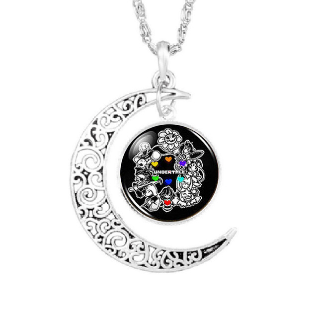 Undertale fans game gamer gaming necklace steampunk pendant moon undertale fans game gamer gaming necklace steampunk pendant moon necklace 1pcslot mens vintage chain mozeypictures Gallery