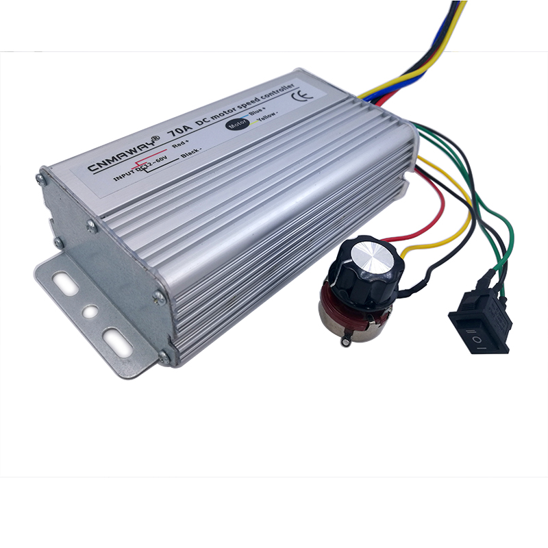 70A DC Motor Speed Controller 12V-60V Reversible PWM Control Forward Reverse Switch