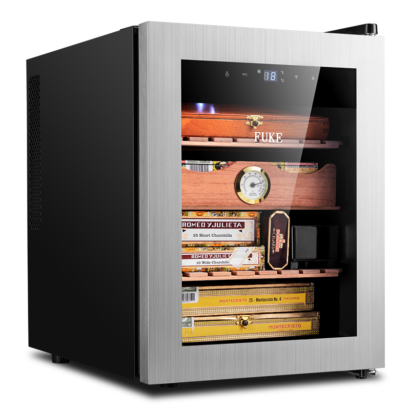 FK-90C Cigar Cabinet Constant Temperature and Humidity Cigar Cabinet Stainless Steel Door Cigar Cabinet HumidorFK-90C Cigar Cabinet Constant Temperature and Humidity Cigar Cabinet Stainless Steel Door Cigar Cabinet Humidor