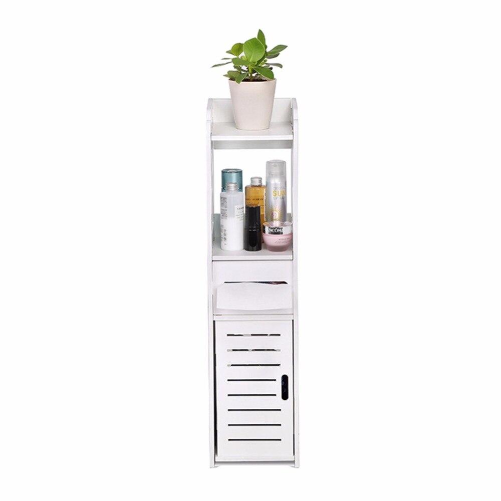 Bathroom Cabinet Toilet Paper Holder - Storage Rack Vanity