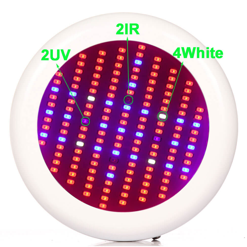 UFO LED Grow Light 150W Full Spectrum with UV / IR for Plant Growing Flowing Seeding for Greenhouse Indoor Plants Veg and Flower