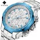 Reloj WWOOR reloj de cuarzo deportivo de moda para hombre relojes para hombre reloj de lujo de acero completo resistente al agua reloj Masculino