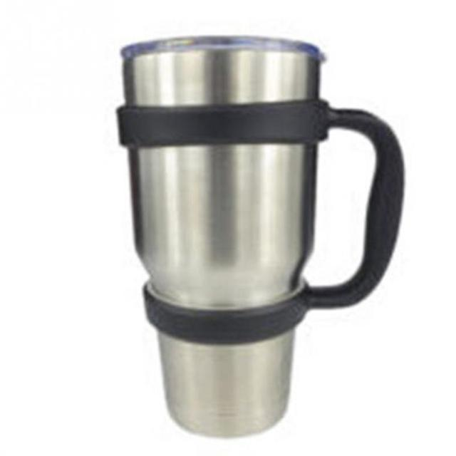 Portable Plastic Water Bottle Mugs Cup Handle for YETI 30 Ounce Tumbler Rambler Cup Hand Holder Fit Travel Drinkware
