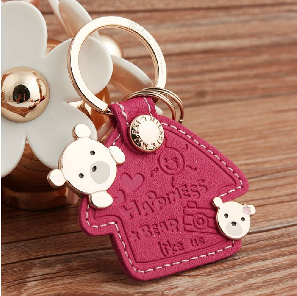 Milesi - New 2014 Brand Bear Key chain Keychain Trinket Key Holder Keyholder Novelty innovative Items Wedding Gift Cloud Couple