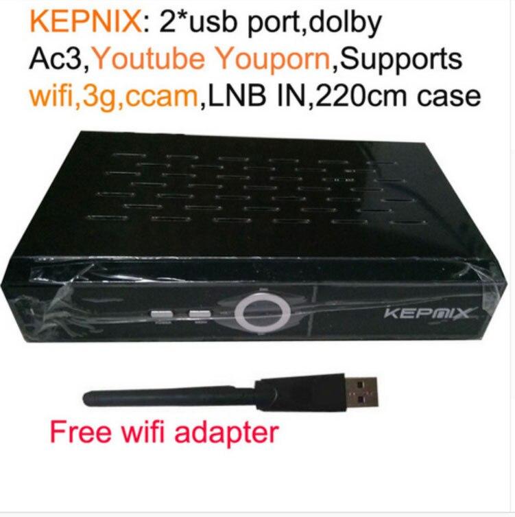 ФОТО HD AC3 Audio kepnix DVB-S2 hd satellite receiver optional wifi support Youtube Ccam IKS vs x6 combo freesat v7 hd