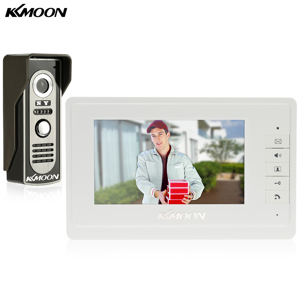 "7"" Wired Video Door Phone System Visual Intercom Doorbell with 1*800x480 Monitor + 1*700TVL Outdoor Camera for Home Surveillance(China)"
