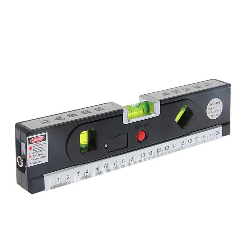 Vertical Bubble Level Laser Marking Lines Tape Aligner Ruler Measuring Tool