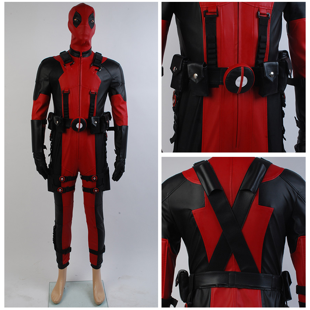 Game Deadpool Costume X men Uniform Cosplay Costume Outfit Zentai Overall Suit Jumpsuit For Adult Men