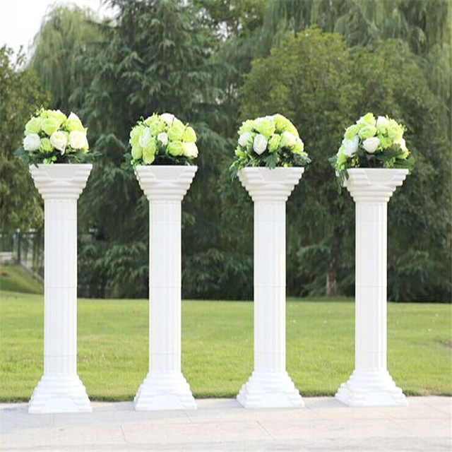 New Arrival Frozen White Plastic Roman Columns Ceremony navidad ...