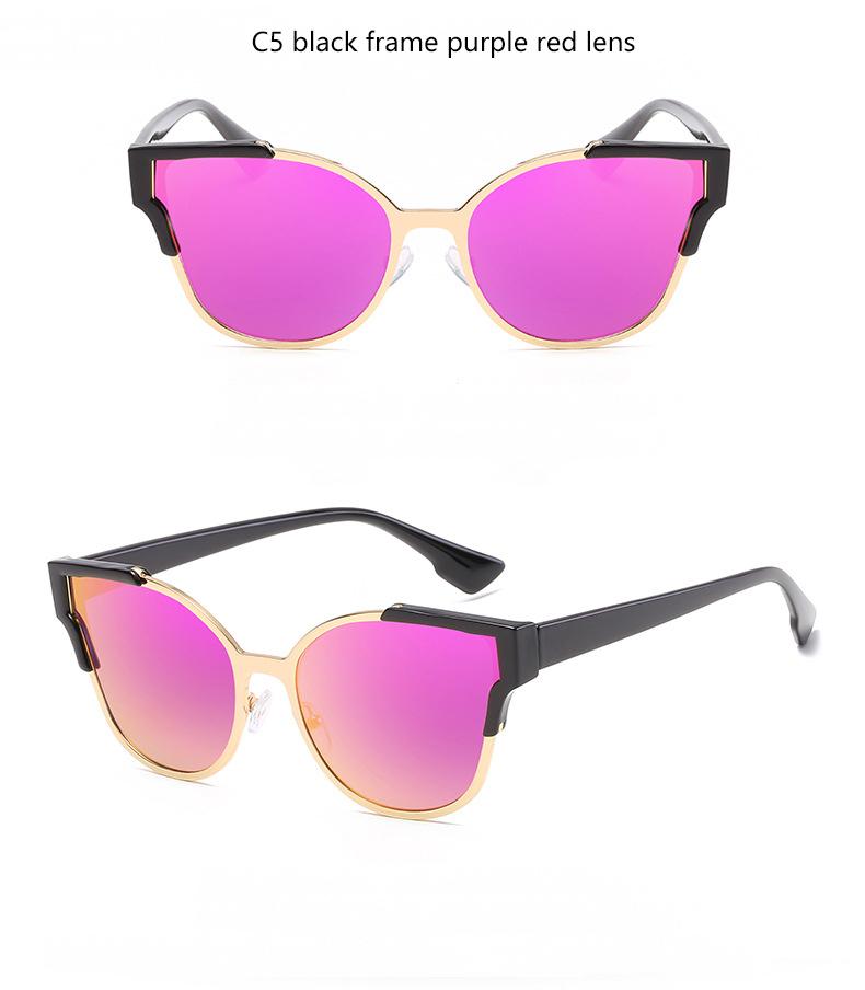 HTB1c7S2QVXXXXapXVXXq6xXFXXXV - Women Cat Eye Luxury Fashion Designer Mirror Sunglasses