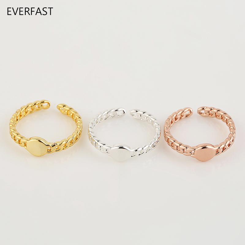 3pc/Set Cute Watch Shaped Ring Silver Gold Rose Gold Color Adjustable Finger Rings Set Women Jewelry Accessories Free Shipping