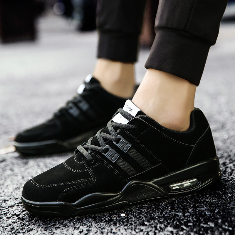 Classic shock absorbing lightweight men 39 s shoes increased casual shoes wear resistant non slip running shoes Men 39 s sneakers in Men 39 s Vulcanize Shoes from Shoes