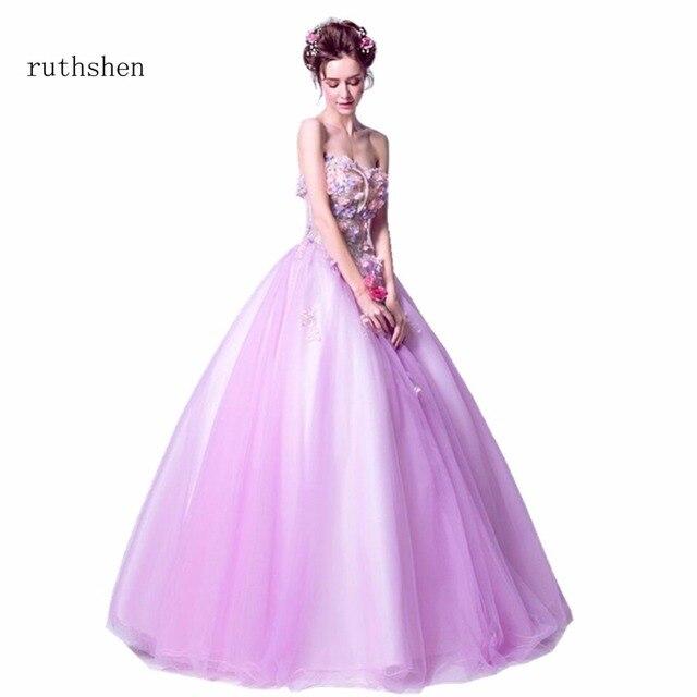 Fairy Vestidos De Dulces 16 Quinceanera Dresses Strapless With Flowers  Appliques Sweet 15 Masquerade Ball Gowns 2018 6e7403c58e10