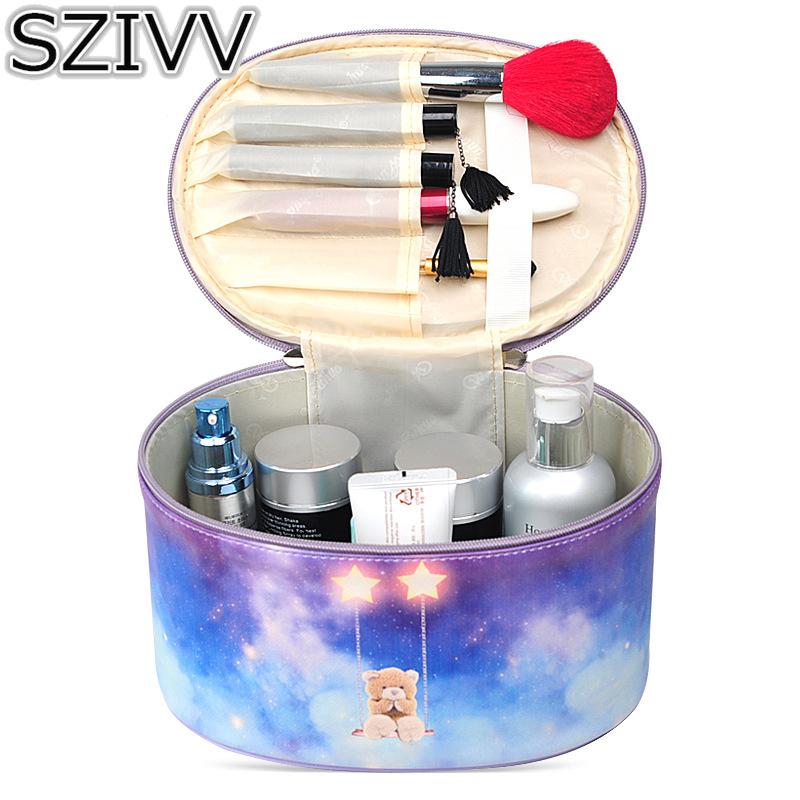 2pcs New Women Cosmetic Bag Makeup Organizer High Capacity Cosmetic Bag Wash Toiletry Vanity Travel Case Storage bag