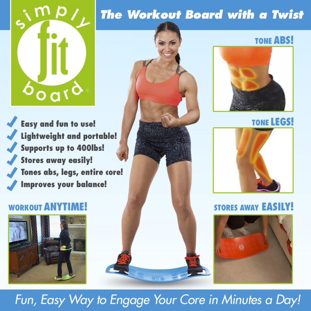 Simply Fit Board As seen on TV The workout board with a twist New ABS balance yoga board Fitness twisted back plate Legs Core овощерезка as seen on tv multi vegetable chopper цвет оранжевый