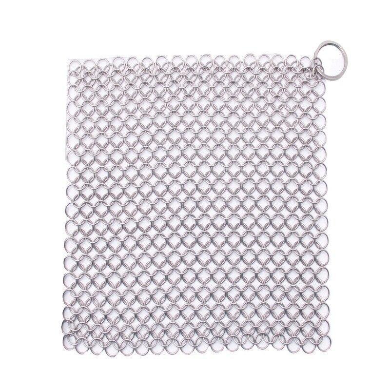 20*15 cm Dedo Limpiador Lavador de Cota De Malla de Acero Inoxidable De Hierro T