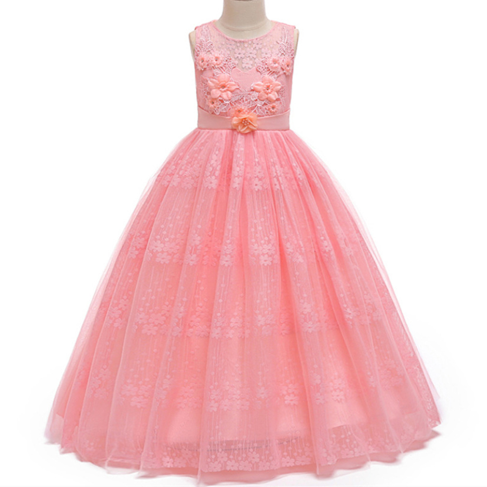 Kids   Flower     Girls     Dress   For   Girl   Wedding Party Lace   Dress   sleeveless Children Prom Princess   Dress   Teenage Ball Gown Prom   Dresses