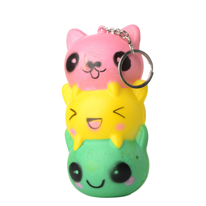 Squishy Antistress Fun Cats Squeeze Squishy Slow Rising Toy Kawaii Cute Straps Stress Reliever Funny Gadgets Kid Toy Decorbrob