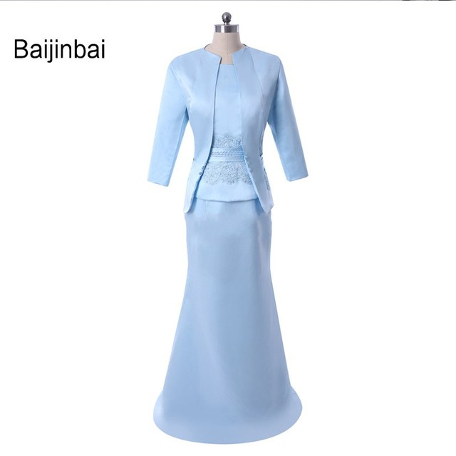 Baijinbai Elegant Mother Of The Bride Dresses Two Pieces With Jacket