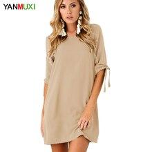 Элегантный Повседневное Женщины Бежевый Короткие платья 3XL Большие размеры женская одежда О-образным вырезом Bodycon шифоновое платье для вечеринки Vestidos